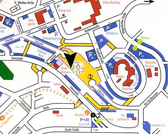 Stadtplan Bensberg